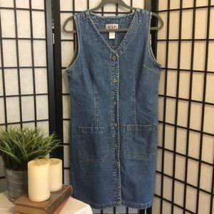 VTG Bill Blass denim button down dress size medium